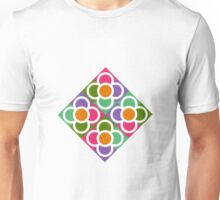 Modernist Floral Tiles Unisex T-Shirt