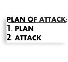 Plan of Attack Metal Print