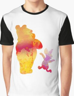 Bear and Pig Inspired Silhouette Graphic T-Shirt