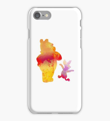 Bear and Pig Inspired Silhouette iPhone Case/Skin