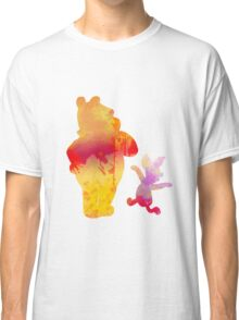 Bear and Pig Inspired Silhouette Classic T-Shirt