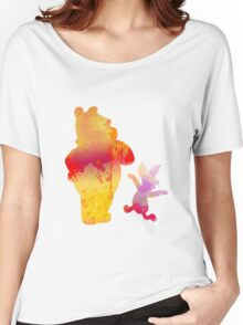 Bear and Pig Inspired Silhouette Women's Relaxed Fit T-Shirt