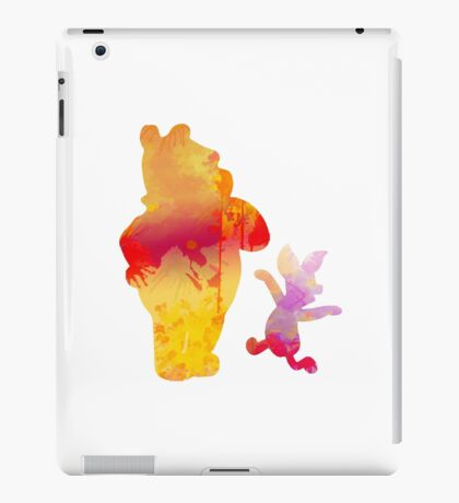 Bear and Pig Inspired Silhouette iPad Case/Skin
