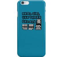 real girl use three pedals iPhone Case/Skin