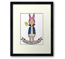 Stranger Belchers - Fight Like a Girl Framed Print