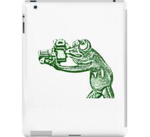 Frog photographer iPad Case/Skin