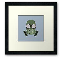 Army Gasmask Framed Print