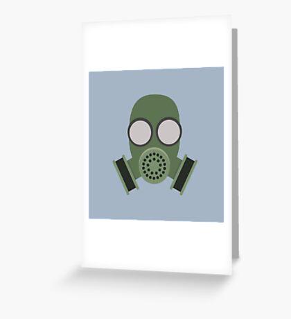 Army Gasmask Greeting Card