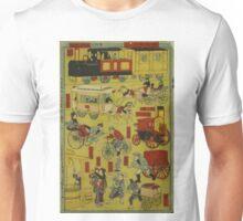 Anonymous - Melange of Vehicles - 1870 - Woodcut Unisex T-Shirt