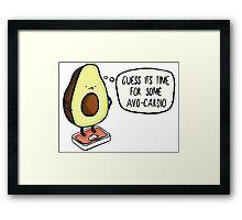 Avocado- Avo-cardio Framed Print