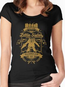 Little Sister Protector Gold Women's Fitted Scoop T-Shirt