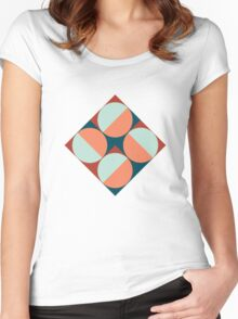 Modernist Geometric Tiles Women's Fitted Scoop T-Shirt