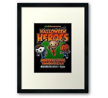 Halloween Heroes! Framed Print