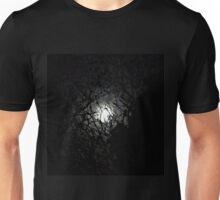 full moon through trees Unisex T-Shirt