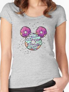 Pop Donut -  Berry Frosting Women's Fitted Scoop T-Shirt