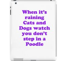 raining cats and dogs iPad Case/Skin