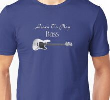 play bass white Unisex T-Shirt