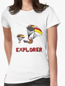 the Real EXPLORER shirt - Dustin's Explorer shirt in Stranger Things Womens Fitted T-Shirt