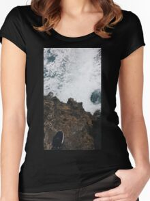 Waves and Rocks Women's Fitted Scoop T-Shirt