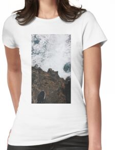 Waves and Rocks Womens Fitted T-Shirt