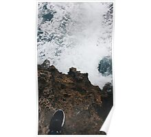 Waves and Rocks Poster