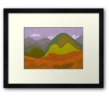 Alone in the valley Framed Print