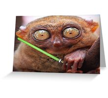 Feel the Cute Force Young Padawan Greeting Card