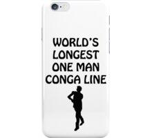 World's Longest One Man Conga Line iPhone Case/Skin