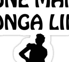 World's Longest One Man Conga Line Sticker