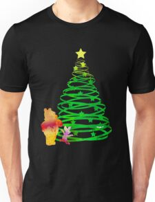 Christmas Bear and Pig Inspired Silhouette Unisex T-Shirt