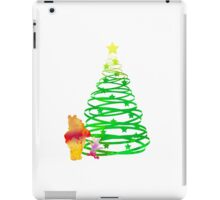 Christmas Bear and Pig Inspired Silhouette iPad Case/Skin