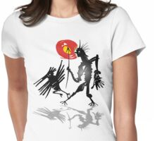 follow crow Womens Fitted T-Shirt