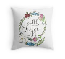 Home Sweet Home - wreath Throw Pillow