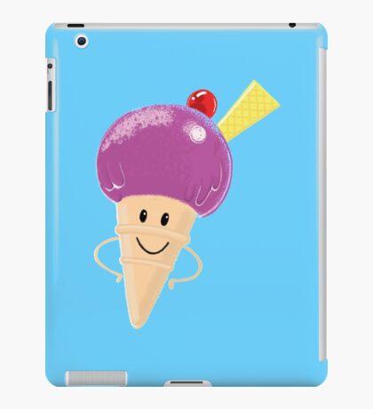 cute funny man icecream iPad Case/Skin
