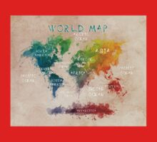 world map 14 One Piece - Long Sleeve