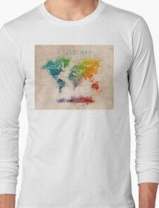 world map 14 Long Sleeve T-Shirt