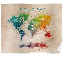 world map 14 Poster