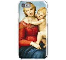 Raphael - The Small Cowper Madonna ( 1505)  iPhone Case/Skin