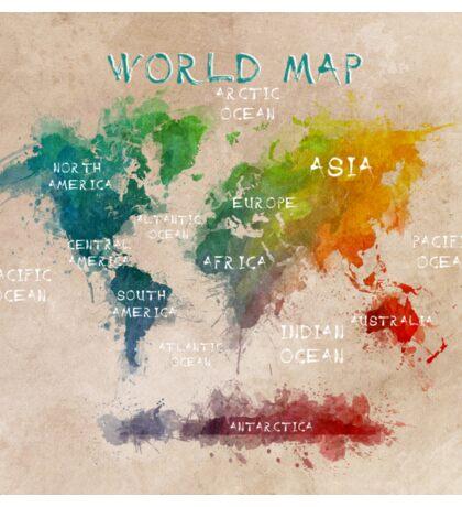 world map 14 Sticker
