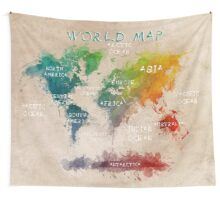 world map 14 Wall Tapestry