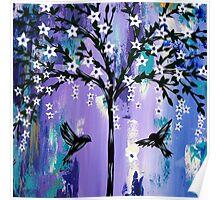 Purple Tree of Life Poster