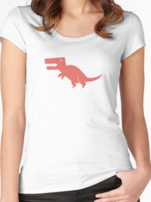 Dinomania - T-Rex Women's Fitted Scoop T-Shirt
