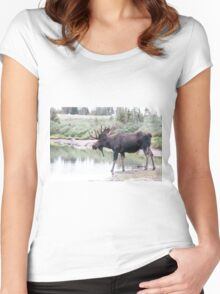 Thirsty moose a Thursday morning Women's Fitted Scoop T-Shirt
