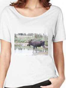 Thirsty moose a Thursday morning Women's Relaxed Fit T-Shirt