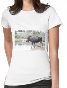Thirsty moose a Thursday morning Womens Fitted T-Shirt