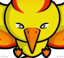 Super Cute Legendary Bird - Team Red Sticker