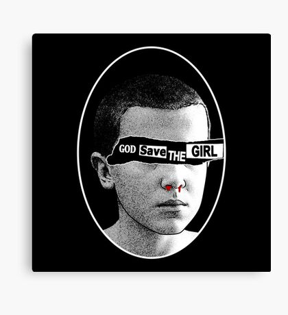 God save the girl Canvas Print