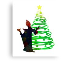 Christmas Villain Inspired Silhouette Canvas Print