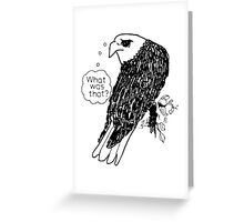 Bald Eagle What Was That Greeting Card