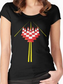 Witches hats as bowling pins Women's Fitted Scoop T-Shirt
